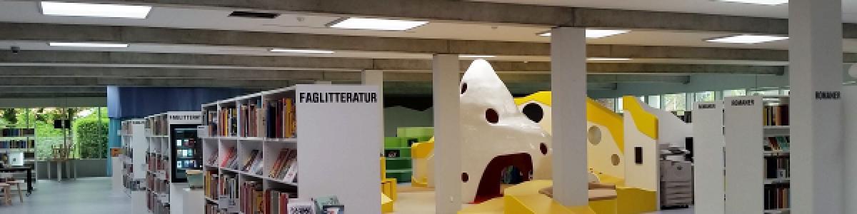 Billund Bibliotek efter renoveringen maj 2016