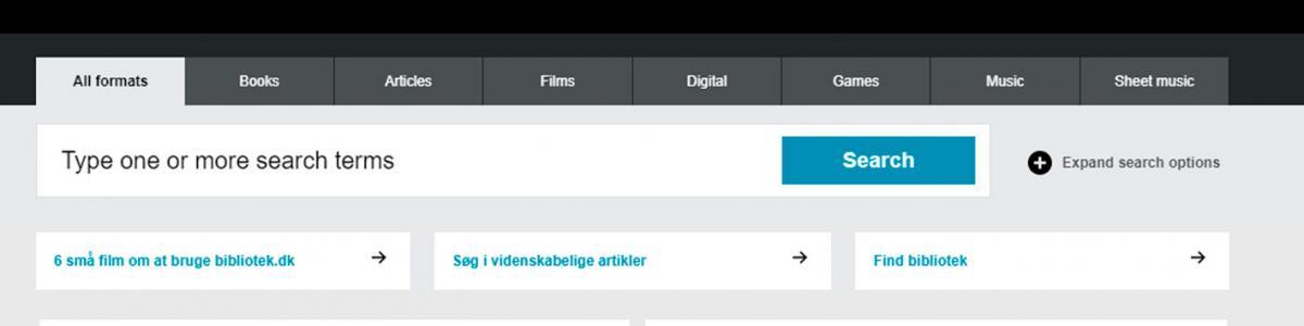 Bibliotek.dk in english